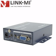 LINK-MI LM-102T 2-Ch VGA Audio Extender 1×2 VGA Splitter 200m Receivers Over Cat5e/6 Cable 1080p for laptop LCD TV, Projector