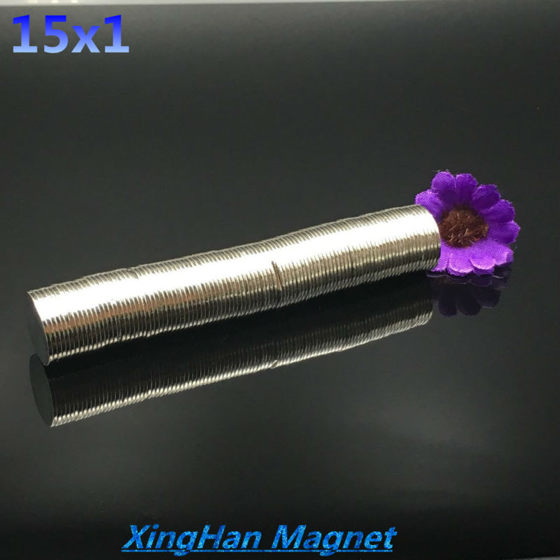 10pcs Free shipping 15x1 Bulk Small Round NdFeB Neodymium Magnets Dia 15mm x 1mm N35 Super Powerful Disc Strong Magnet 15*1