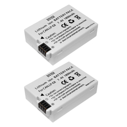 2Pcs 1.8Ah LP-E8 Rechargeable Camera Batteries for Canon 550D 600D 700D T2i T3i T4i T5i Wholesale