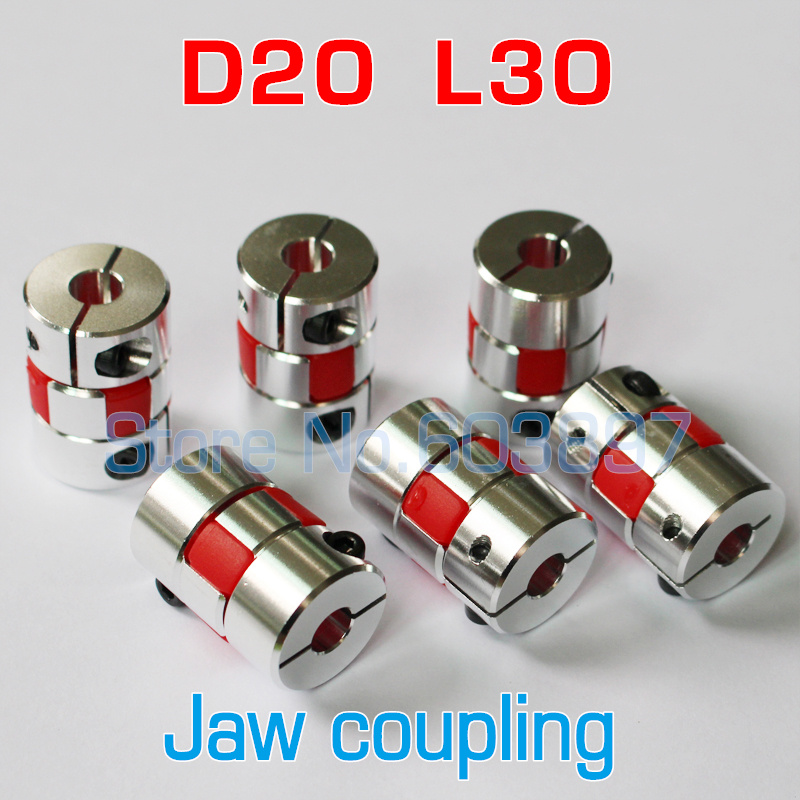 Inner Diameter: 8X8 Power Transmission Flexible Plum Clamp Coupler D20 L30 Shaft Size 5//6//6.35//7//8//10mm CNC Jaw Shaft Coupling 5mm 8mm