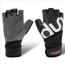 1 Pair Boodun Men 's Wrist Protection Weight Lifting Glove Anti Skid CrossFit Gym Fitness Gloves Compression Dumbbells Belts