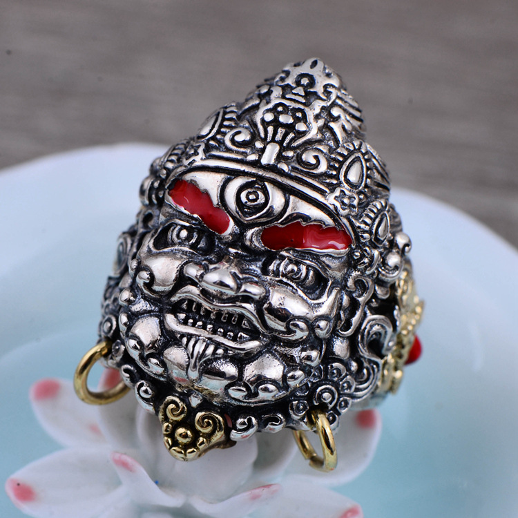 925 Sterling Silver Dzambala Open Ring Men & Women Thai Silver Fine Jewelry Gift Finger Ring CH058778 the vampire diaries vampire knight crown ring jewelry gift men s ring gift jewelry 925 sterling silver ring