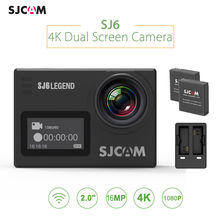 SJCAM SJ6 LEGEND 4K WiFi Sports Action Camera Dual Screen HDMI 16Mp with Dual Charger and 2 Battery