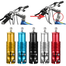 Aleación de aluminio bicicleta vástago aumento del tubo de Control extender el vástago del manillar realza la horquilla delantera de la bicicleta accesorios de las piezas de la bicicleta