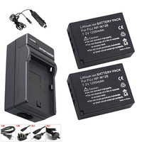 2x 1200mAh NP W126 NP W126 Li ion Battery + LED Single Charger for Fuji NPW126 X T10 XT10 X Pro1 XPro1 X T1 XT1, HS30 33 35 50