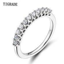TIGRADE Women Ring 925 Sterling Silver Wedding Band Cubic Zirconia 100% Rings wedding rings anillos plata para mujer