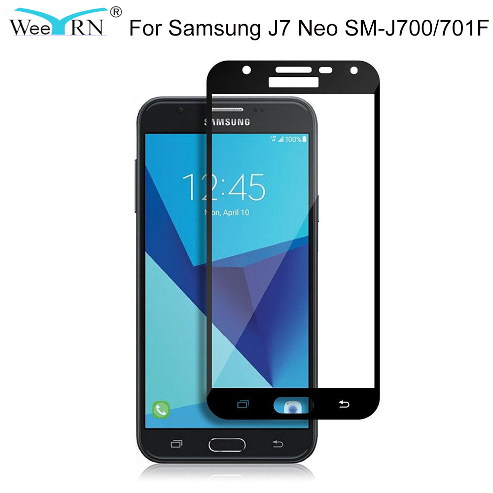 Tempered Glass for Samsung Galaxy J7 Neo Screen Protector Protective Glass for