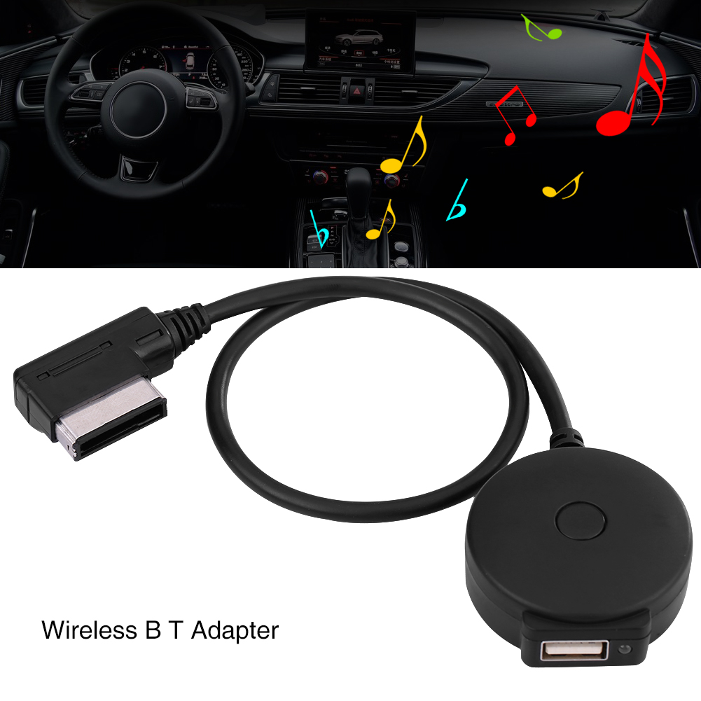 Media In AMI MDI Audio Aux <font><b>USB</b></font> Female Bluetooth Adapter for AUDI A1 A3 <font><b>VW</b></font> Tiguan <font><b>Golf</b></font> 6 GTI CC image