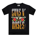 Brand clothing Cotton GUNS N' ROSES print t shirts men summer short sleeve tee big size S-XXXL good qualtity