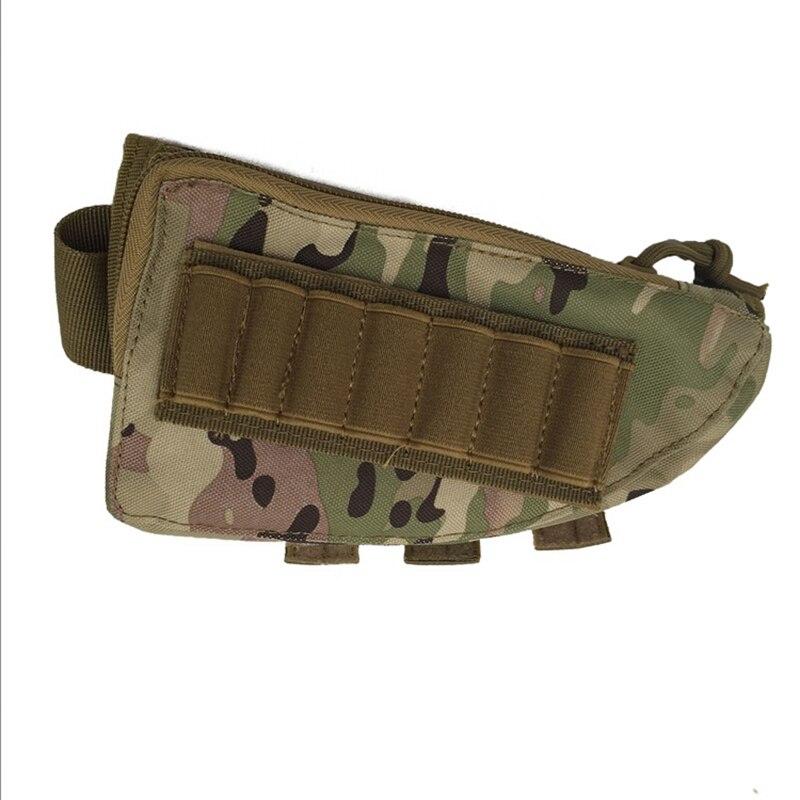 Bolsa militar portátil 2018 para Airsoft Paintball CS War Game 600D Rifle Stock munición con almohadilla de cuero de mejilla para caza 5 colores 100 Uds. El proyectil 8mm bolas de acero arco tirachinas profesional munición tirachinas al aire libre balas utilizadas para la caza