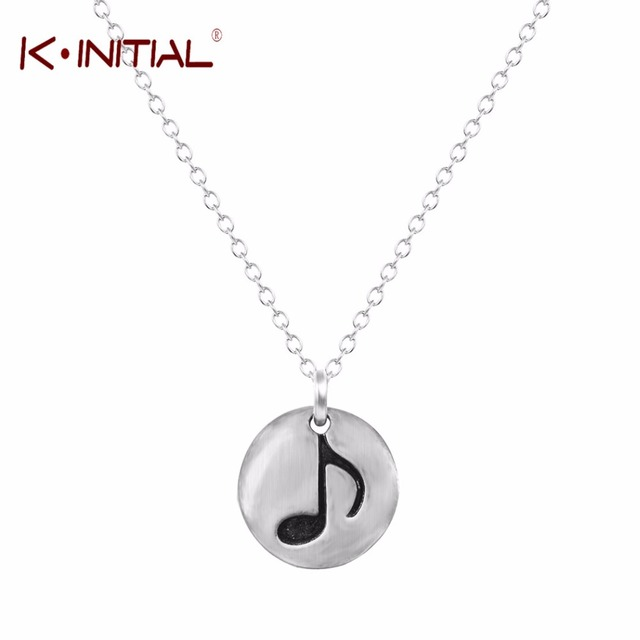 10pcs Statement Necklace for Womens Necklace Music Note Pendant Necklaces Antique Silver Charm Chain Chocker Jewelry Gift