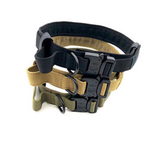 Нейлоновый ошейник для собак, тренировочное собачье ожерелье с пряжкой, ошейник для маленьких собак, тактическая длина, регулируемые ошейники для домашних животных, товары для домашних животных