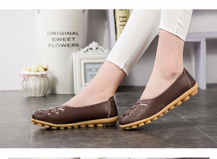 Hot Sale 2016 Spring New PU Leather Woman Flats Moccasins Comfortable Woman Shoes Cut-outs Leisure Flat Woman Casual Shoes ST181 (37)