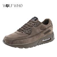 WolfWho Men Shoes Big Size Unisex Shoes Slipony Men Shoes Air Cushion Male Sneakers Zapatillas Hombre