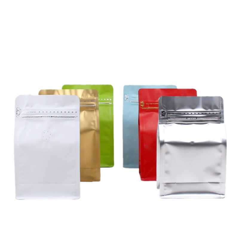 HARDIRON Air Valve Zipper Pouch Half Pound Aluminum Foil Coffee Bag Eight Sides Sealed Packet Food Packaging Sack