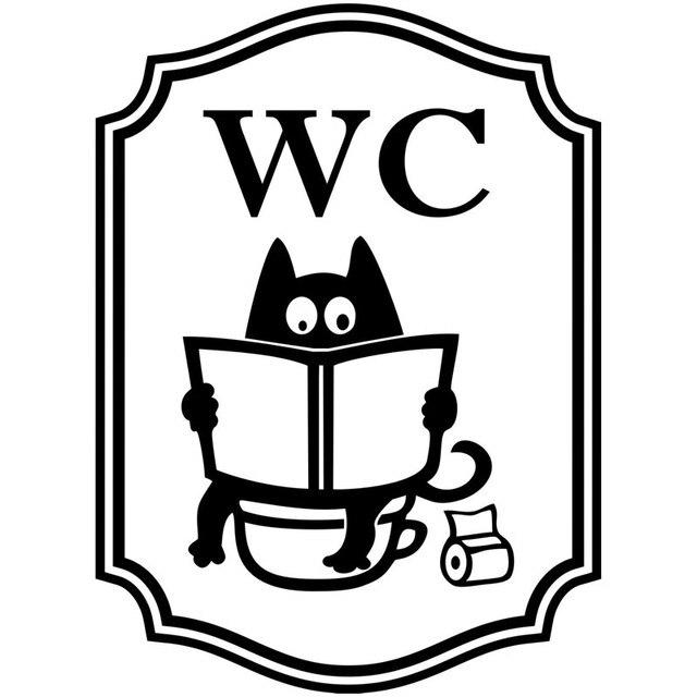 Dessin Wc 11*15 cm wc toilettes de chat de dessin animé créatif voiture
