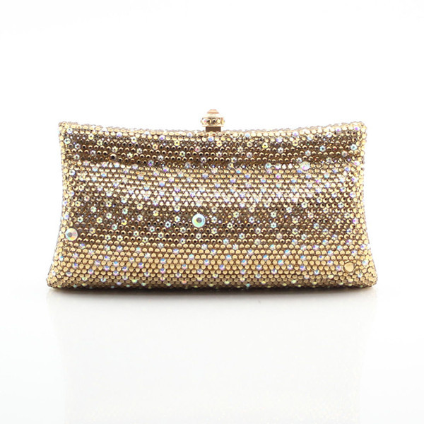 Crystal decorated glamorous party clutch bags studd decorated belt