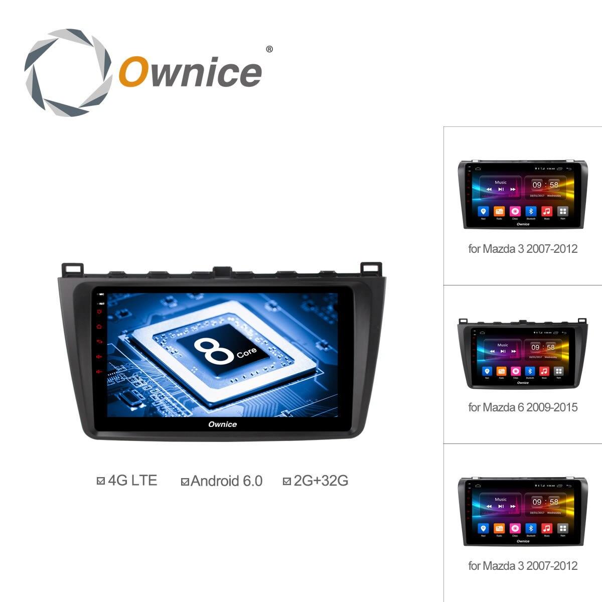 9 inch ownice c500 2g 32gb android 6 0 car dvd for mazda 6 mazda 3 gps navigation player octa core 4g dab radio rds carplay