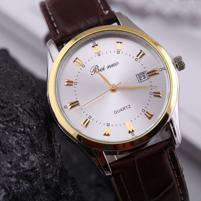 Fashion Reloj Hombre Casual Men's Watch Luxury Brand Quartz Male Clock Leather Strap Watch Men Sports Business Man Hour
