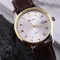 Reloj Hombre de moda Casual dos homens Relógio Marca De Luxo de Quartzo Pulseira de Couro Relógio Masculino Relógio Dos Homens Dos Esportes Homem de Negócios Hora