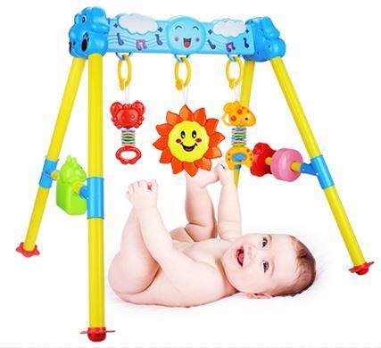 Brinquedos do bebê 0 - 1 anos de idade do bebê quadro de Fitness Fitness recém-nascido música brinquedos 3 - 6 - 12 meses brinquedos do bebê