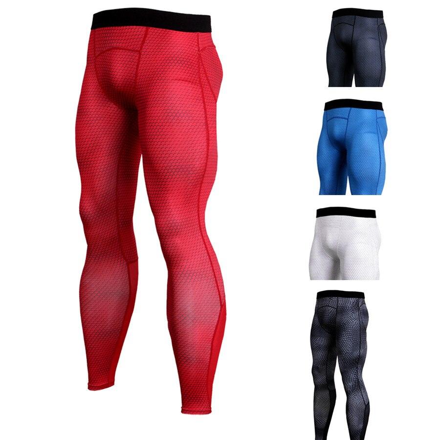 Sportives 2018 collants running hommes compression collants gym fitness  peaux workout pants jambières de basket- ca4337ca4d9