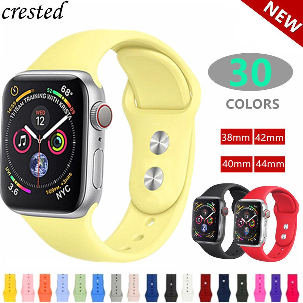 Silicone strap For Apple Watch band 42mm 38mm iWatch 4 band 44mm 40mm sport bracelet watchband for Apple watch 3 2 1 42/38 mmSilicone strap For Apple Watch band 42mm 38mm iWatch 4 band 44mm 40mm sport bracelet watchband for Apple watch 3 2 1 42/38 mm