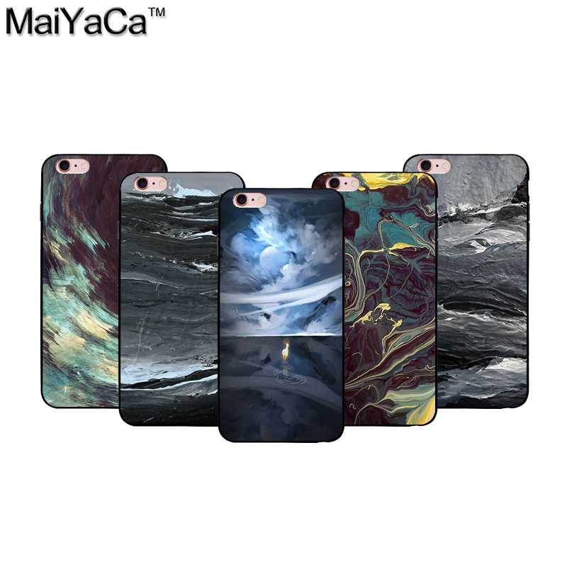 The latest ink contracted element Black Soft TPU silicone Phone Case Accessories Cover For iPhone 5s 6s 7 plus case
