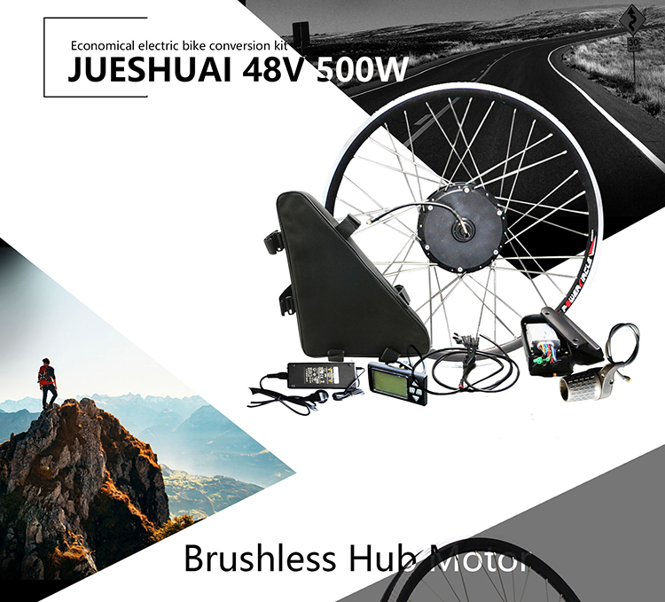 Excellent 48V 20ah Battery 48V 500W Electric Bike Conversion Kit with Battery Brushless Hub Motor Wheel bicicleta electrica E-bike Kit 1