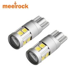 Meetrock 2x super bright led t10 w5w voiture lampe 9 smd 3030 EMC auto lecture parking brouillard marqueur arrière lumière 152 194 12 v blanc 6000 K