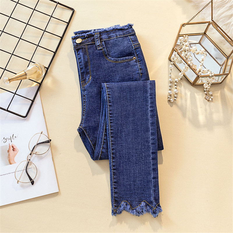 JUJUAND Ripped Skinny Pencil Jeans Woman Plus Size High Waist Mom Stretch jeans Ladies Denim Pants Trousers Women jeans Jeans Women Bottom ! Plus Size Women's Clothing & Accessories