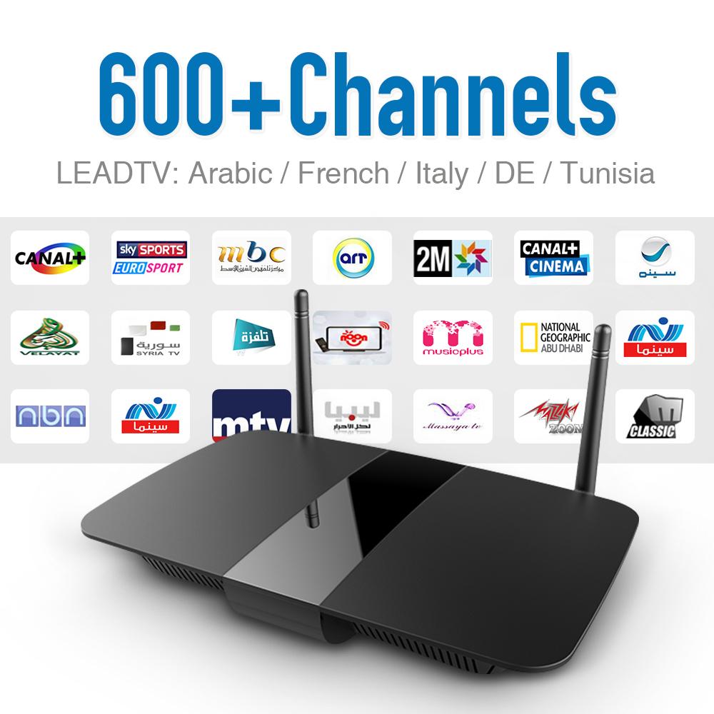 Prix pour Dalletek Android Tv Récepteur RK3128 1G/8G Wifi et Chaude IPTV Français Arabe Africain Tunisien Algérienne Canaux IPTV Set Top boîte