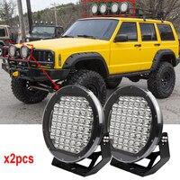 225 Вт Led lights off road 9 дюймов 225 Вт вождения лампы 45 шт. x 5 Вт прожекторы 12 В 24 В светодиодный свет фар для бездорожья внедорожник x2pcs