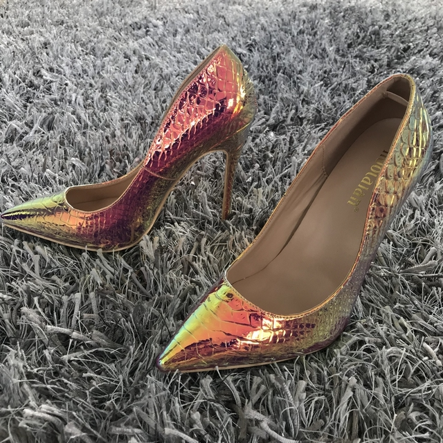 2019 New fashion woman shoes snake printing party wedding shoes big size 35-42 sexy pointed toe high heels pumps women shoes 3