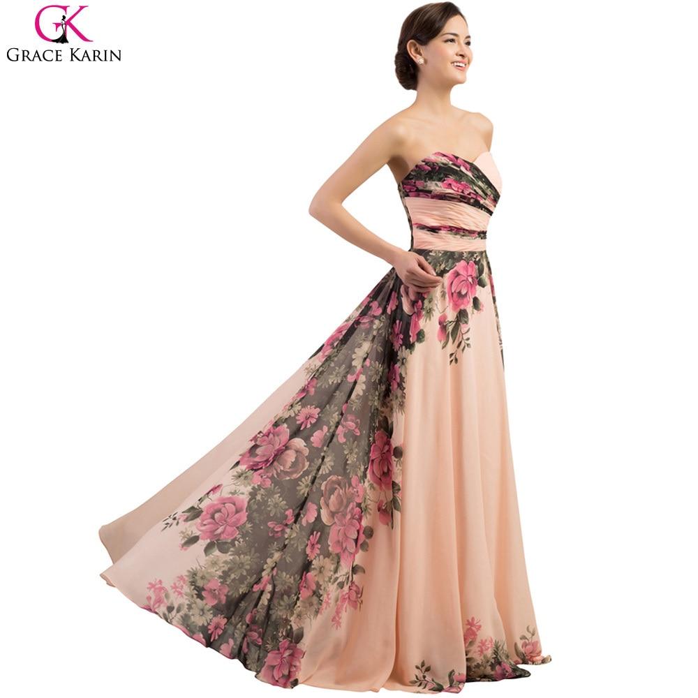 beautiful long floral dresses