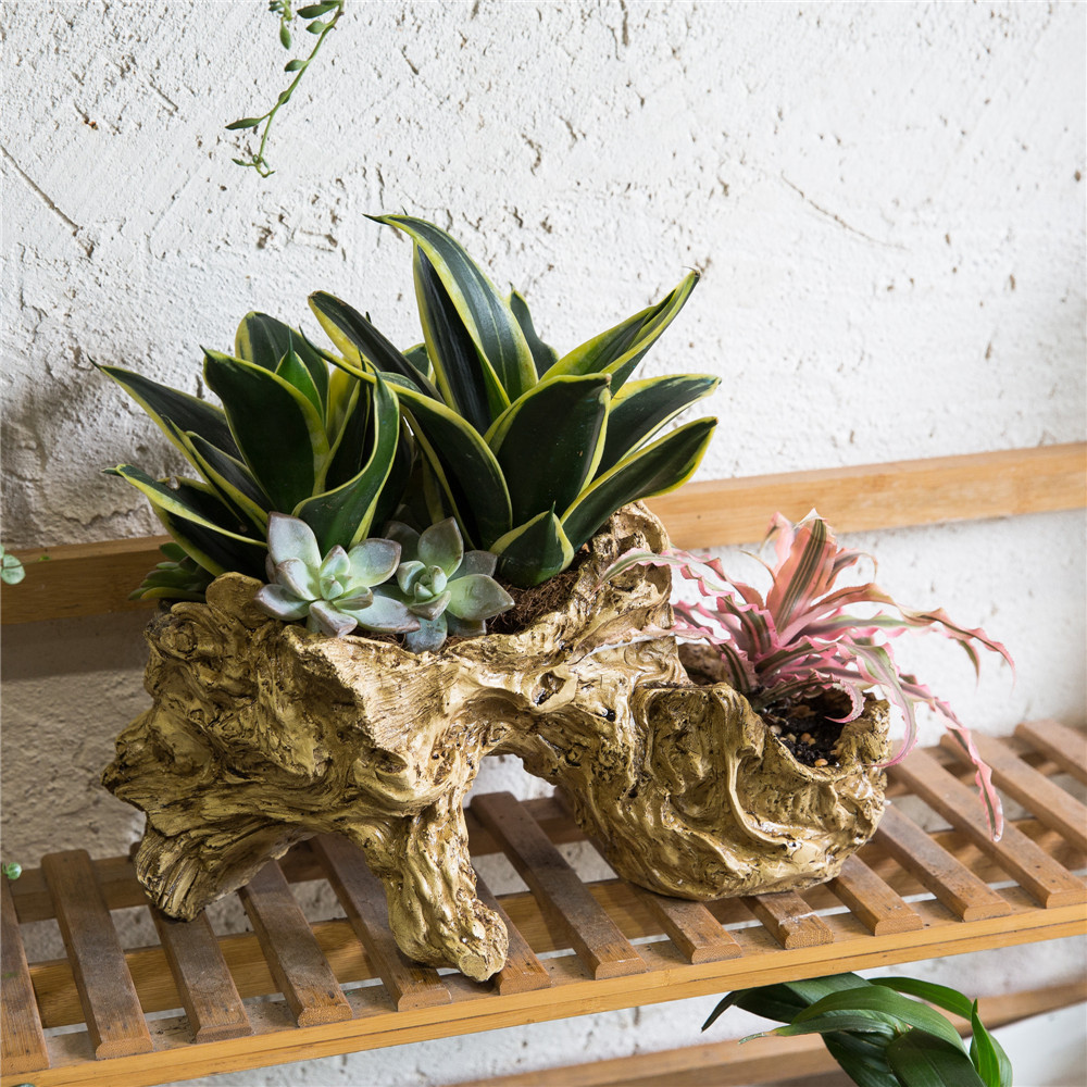 Multilayer artificial sculpture tabletop decorative for Air plant planters