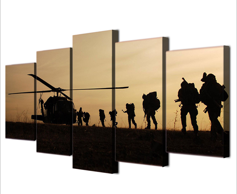 5Piece Art Wall Canvas Ptinted Posters Painting Home Decor Modular ...