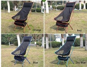 Image 5 - 휴대용 접이식 문 의자 낚시 캠핑 바베큐 의자 접는 확장 하이킹 좌석 정원 초경량 사무실 홈 가구