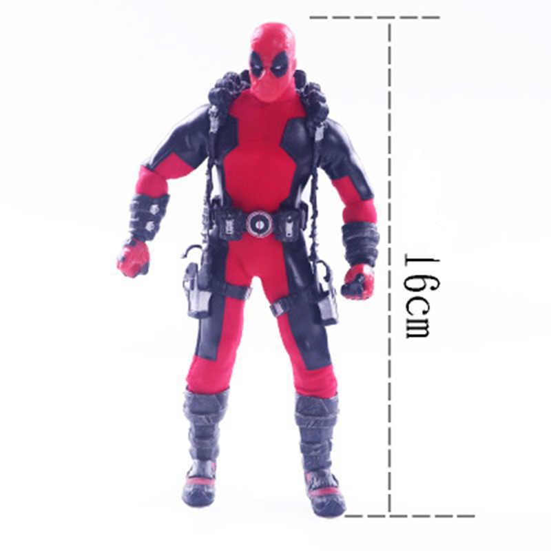 Vingadores Deadpool Figuras Anime Brinquedos 6 polegadas Pano Estilo Action Figure Super Hero 16 cm PVC Modelo Boneca de Brinquedo com caixa de Presente para Crianças