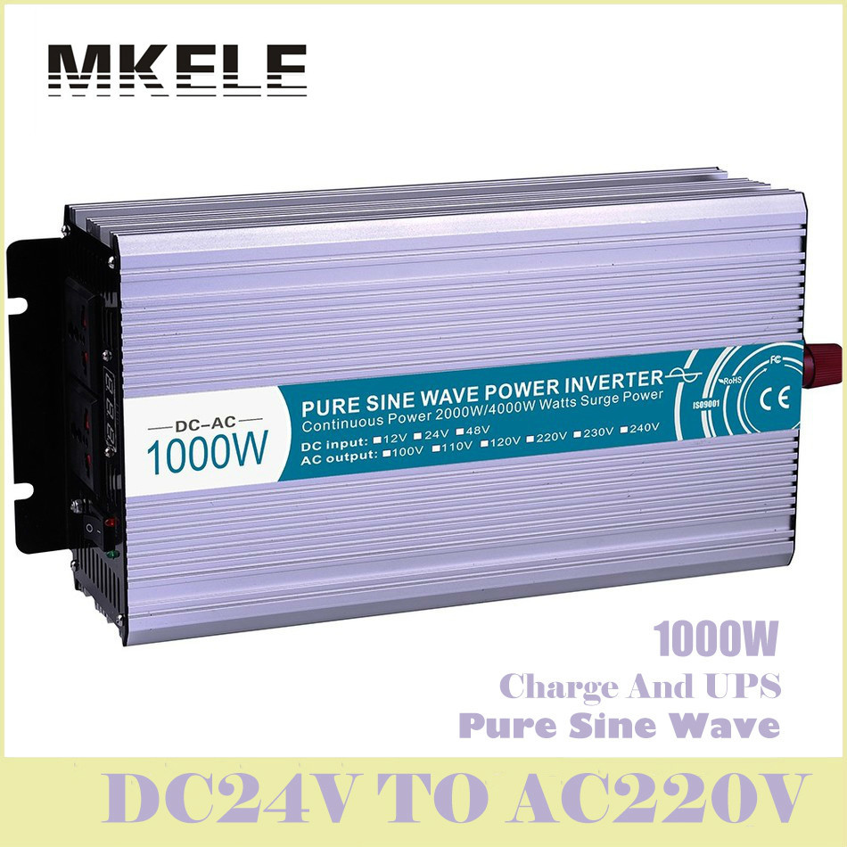 MKP1000-242-C Inverter 1000w 24v To 220v Pure Sine Wave Off Grid Solar Voltage Converter With Charger And UPS China ultra boost mkp3000 122 c off grid pure sine wave inverter 3000w 12v 220v solar inverter voltage converter with charger