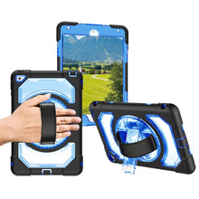 Miesherk for iPad Mini 4 360 Degree Rotating Kickstand Leather Handle Dust Proof Protective Cover Modle A1538 A1550