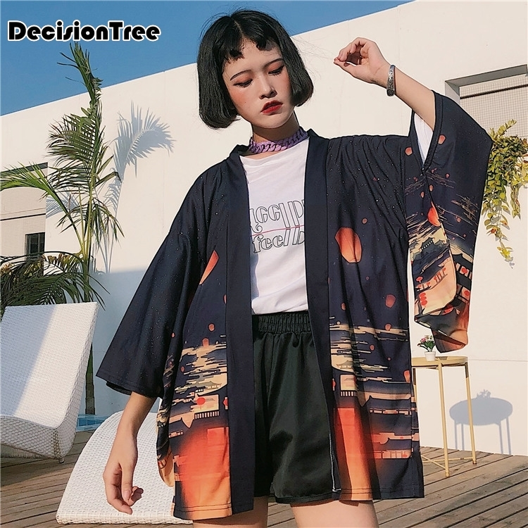 2020 Casual Plaid Women Kimono Vintage Linen Cotton Long Sleeve Kimon Top Female Shirts Tops Camisa Feminina Chemise