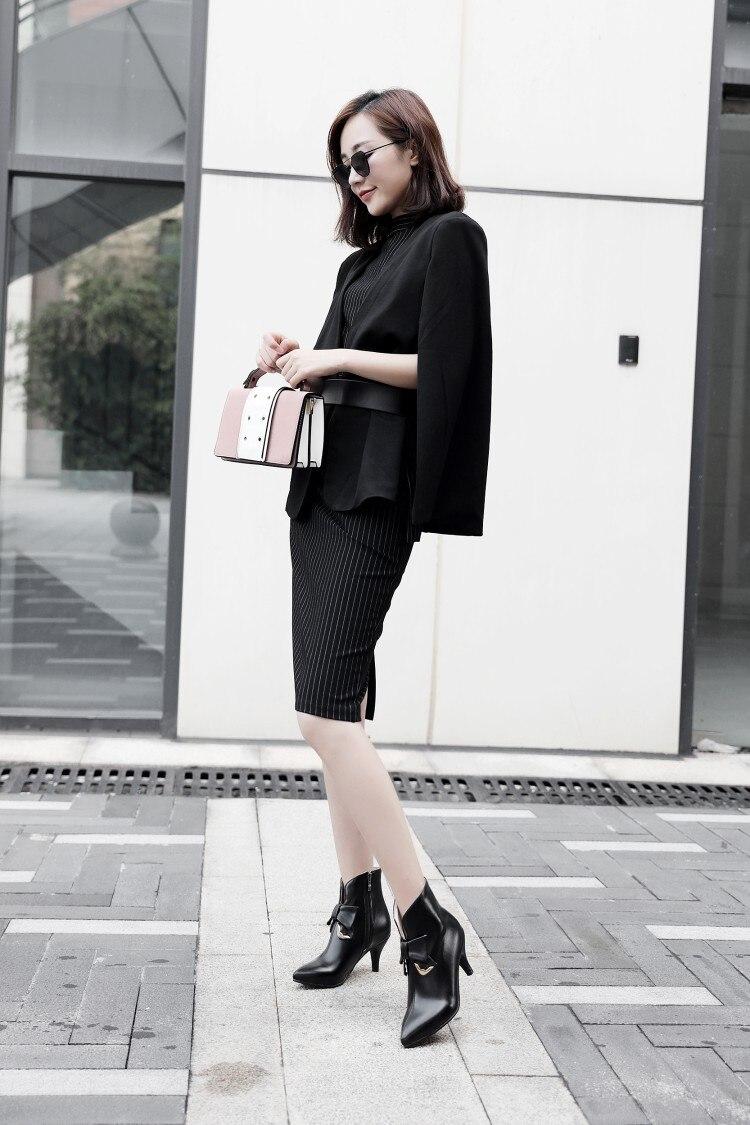 a793e704ed2 Glissement Pour Femmes Color Cuir Chelsea Des Chaussure En D hiver Femme  Cheville Bottes Marque Chaussures ...