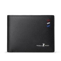 Leather wallet fashion cowhide short Mini Wallet pocket purse