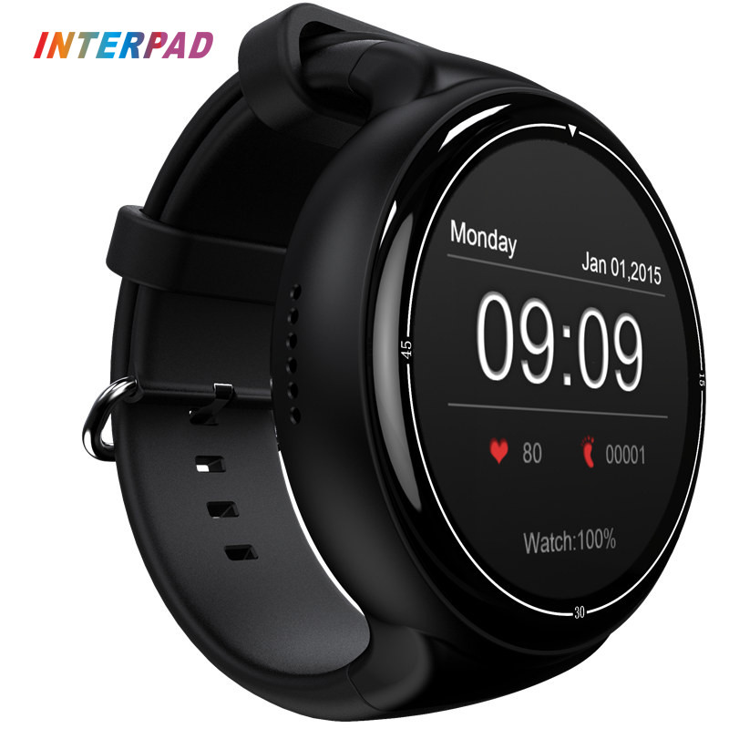 2017 Interpad Android 5.1 OS i4 Air Smart Watch 2GB/16GB GPS Wifi 3G Bluetooth Smartwatch Support Google Play For iPhone 8