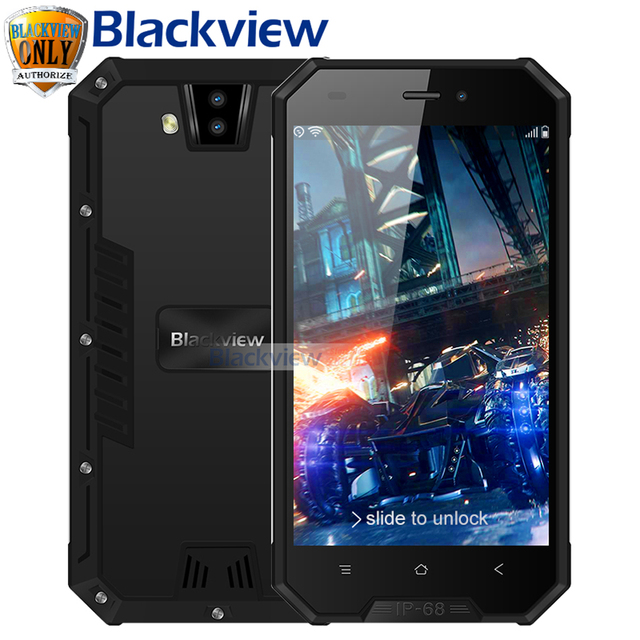 "Blackview BV4000 IP68 Waterproof Smartphone 8MP Dual Rear Cameras 4.7"" IPS HD Android 7.0 Quad Core 1GB+8GB 3G GPS Mobile Phone"