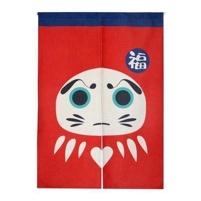 Taiwan japon style chinois chanceux fortune mascotte tissu porte rideau ombre suspendus chambre salon cuisine décoration de la maison Fu
