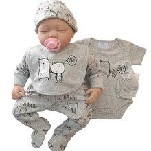 2020 الربيع والخريف 5 قطعة فستان طفل رومبير 5 قطعة تصميم جديد المولود الجديد ملابس الطفل مجموعة 100% القطن