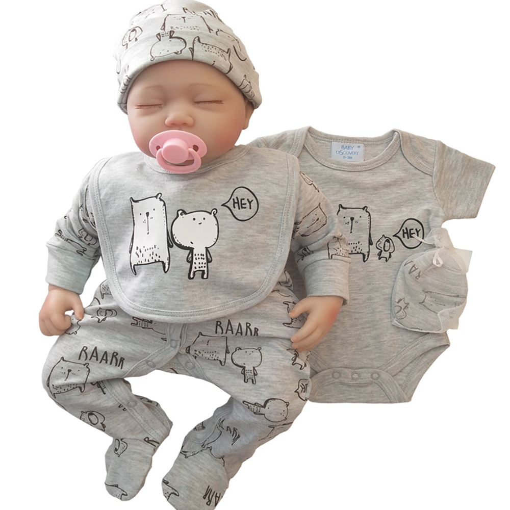 2020 Spring And Autumn 5pcs  Baby Romper Baby Dress 5pcs New Design New Born Baby Clothes Set 100%cottons