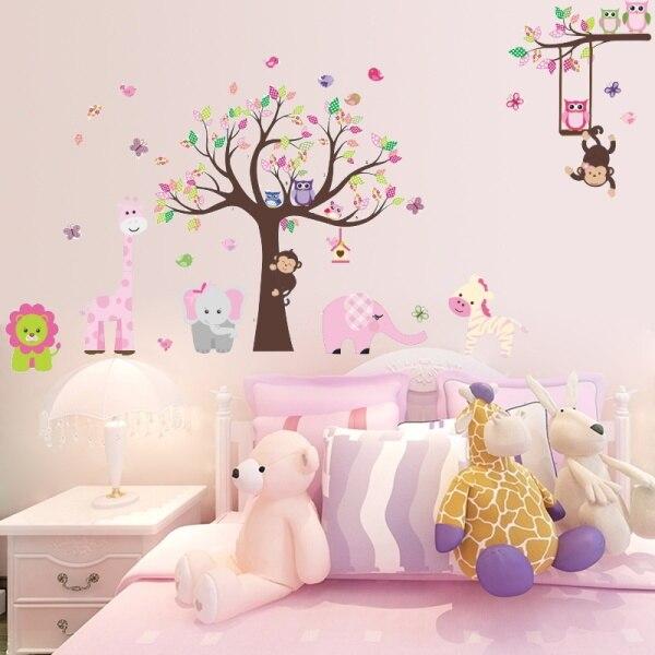 Ador vel animais vivem juntos adesivos de parede home for Stickers habitacion nina